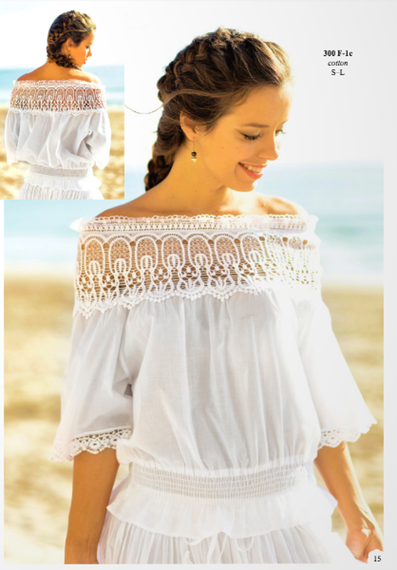 2fe09cfd8c7 Шикарная блузка с белым кружевом fresh-cotton 300 f