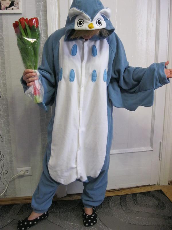 Креативная сова пижама футужама слип кигуруми костюм1 ... 9127536b67ae0