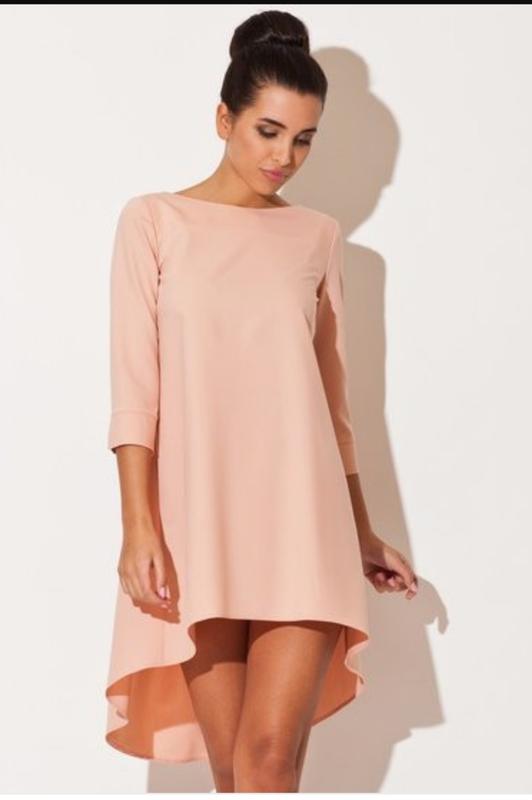 947c6ed5e936e77 Платье свободного кроя спереди короче сзади длиннее, размер хs-s1 фото ...