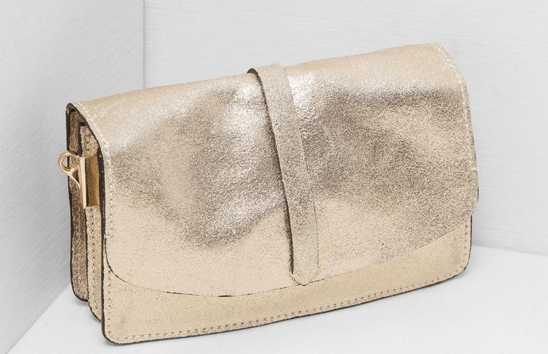 74bad1b60845 Новая сумка из натуральной кожи zara золото клатч кроссбоди весна лето1 ...