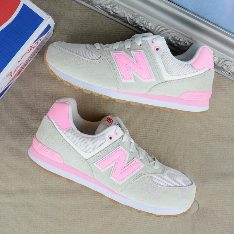 New balance 574 teal white кроссовки бежевые с розовым 38 размер оригинал  из сша1 ... f0c1a8489d899