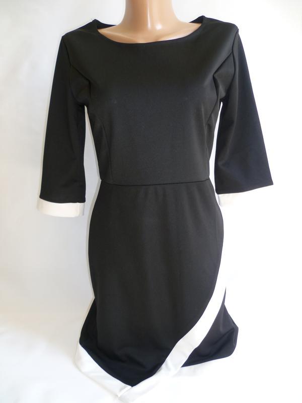 320360f5512faac Трикотажное платье чёрно-белое., цена - 70 грн, #12761492, купить по ...