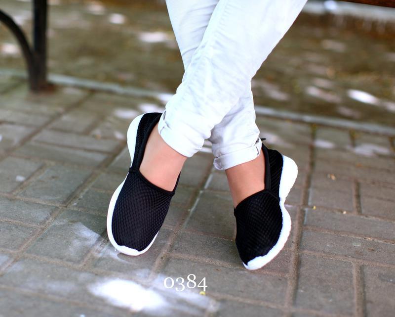 802995bafee Мокасины чёрные спортивные женские 37, цена - 225 грн, #12762190 ...