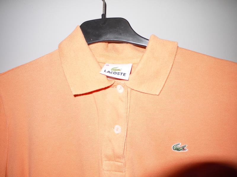 16720025c782 Lacoste тенниска персикового цвета лакоста оригинал футболка с воротником1  ...