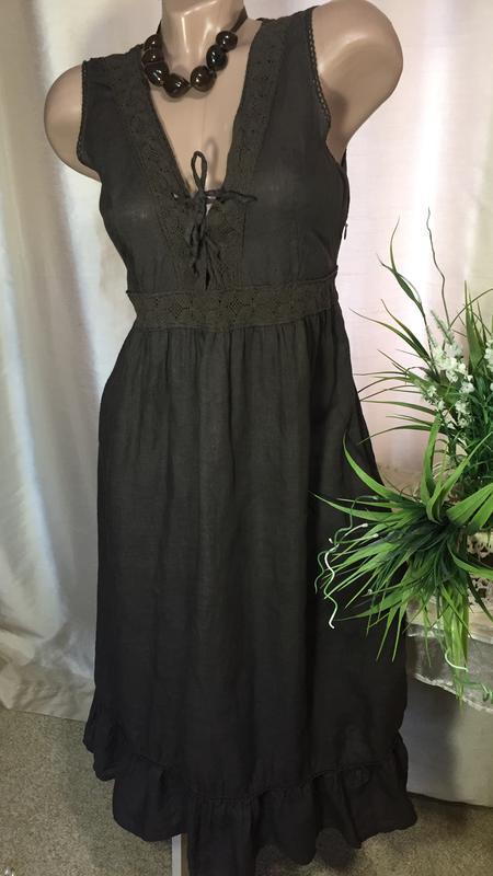 8c8cf3cf90f22cb Италия / льняное платье из натурального льна 100% flex лен ( мягкий)1 фото  ...