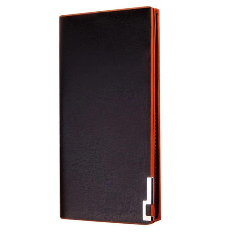 af44f973f548 Кошелек бумажник портмоне черный мужской унисекс длинный тонкий деловой  солидный стильный1 фото ...