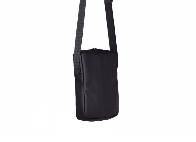 fd89b5281132 ... Черная мужская сумка - планшет, мессенджер кожаный (сумка через плечо)  eco leather black3