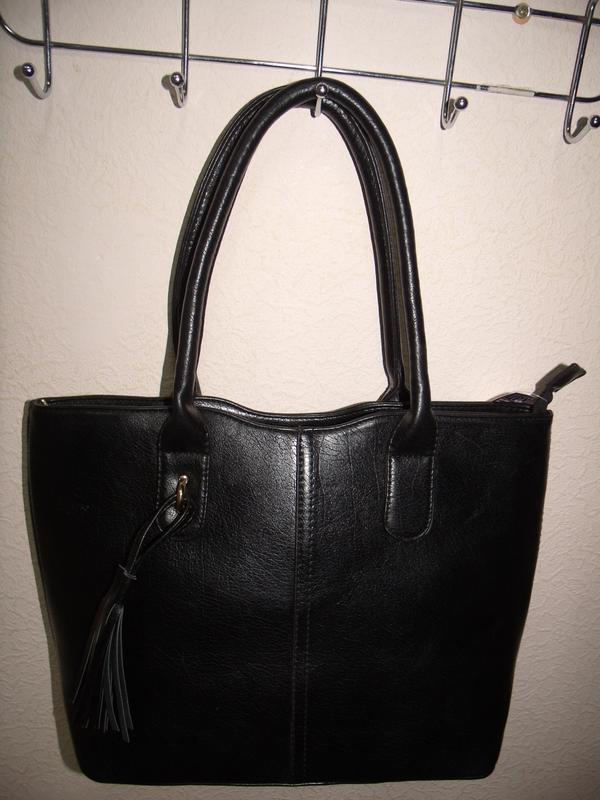 d023835c8580 Сумка женская чёрная вместительная к-1292-5, цена - 275 грн ...