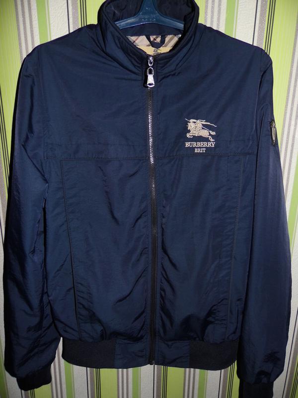 Мужская куртка бомбер -burberry-brit-navy london m 46 размер- ... ab7d8359070