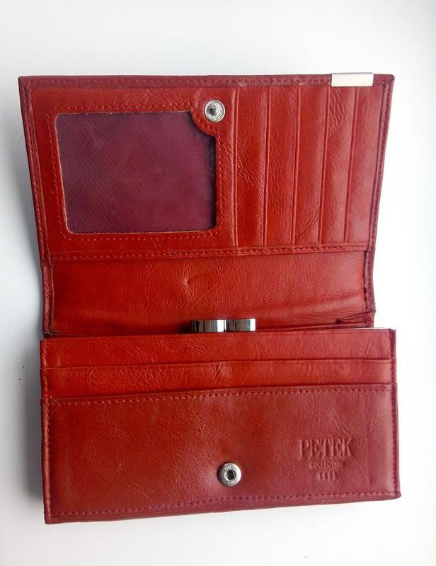 e53235121742 Портмоне женское petek, кошелек красный цвет петек оригинал1 фото ...