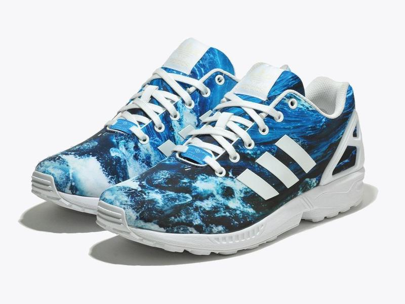 """c09f46c4a581 Фирменные кроссовки adidas originals zx flux """"ocean waves"""" Adidas ..."""