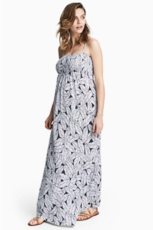 ae2837278268 Макси платье сарафан для беременных на тонких бретелях h m p.38 скидка  распродажа1 ...