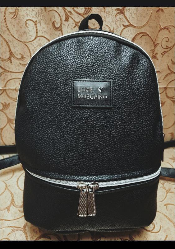 5508a27db5c4 Черный рюкзак из экокожи love moschino женский маленький городской новинка  модный стильный1 фото ...