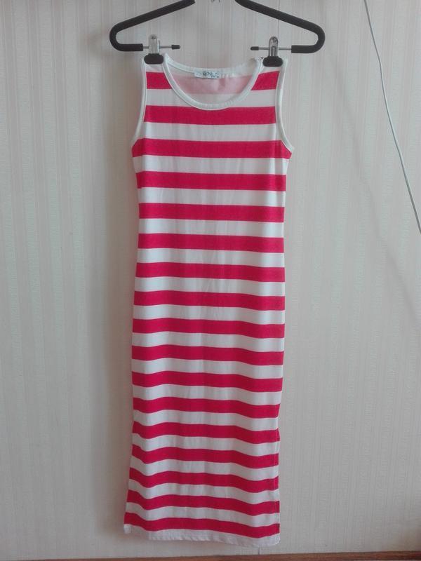 30b73e57564 Супер платье в полоску р. 152 Турция