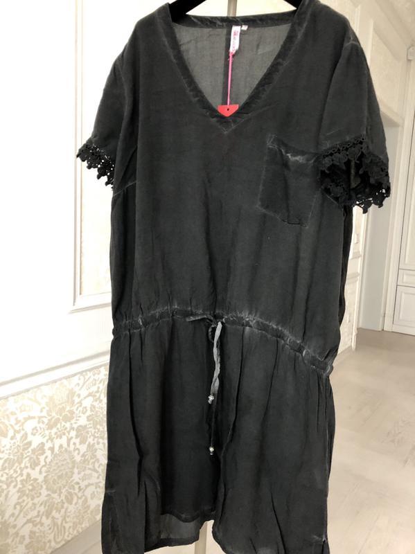 8f0ee106e31e Платье черное  летнее  короткий рукав  кружево  под пояс greatlooks1 ...