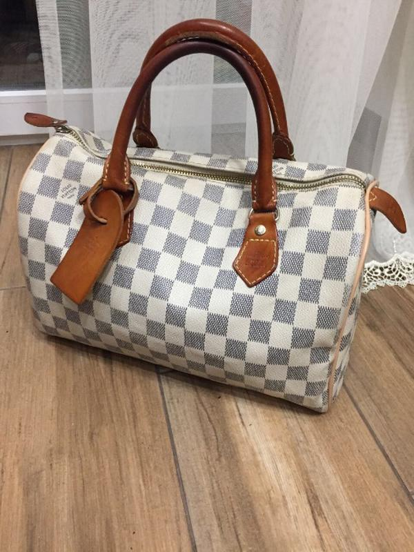 10f646d26745 Кожаная сумка louis vuitton speedy 30 damier azur Louis Vuitton ...