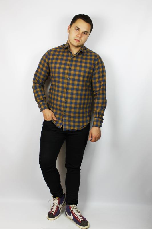 c20e0901b5e Идеальная стильная рубашка с длинным рукавом massimo dutti в красивую  клетку1 ...