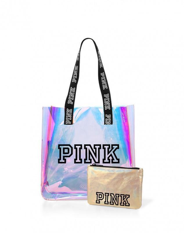 3b1fb3654142 Прозрачная пляжная сумка victoria's secret pink + косметичка1 фото ...
