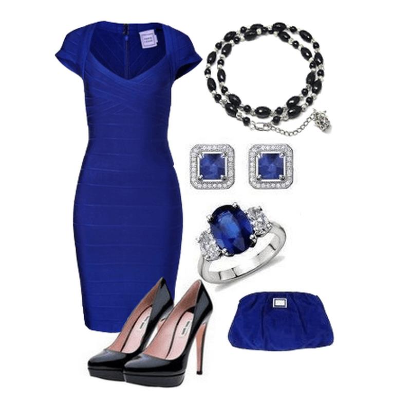 сожалению, что носить с синим платьем фото статья подскажет вам