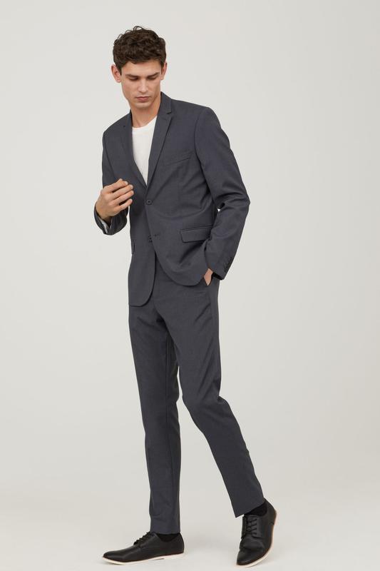 7a7a0bf357c52 Классический мужской выпускной свадебный темно серый костюм h&m1 фото ...