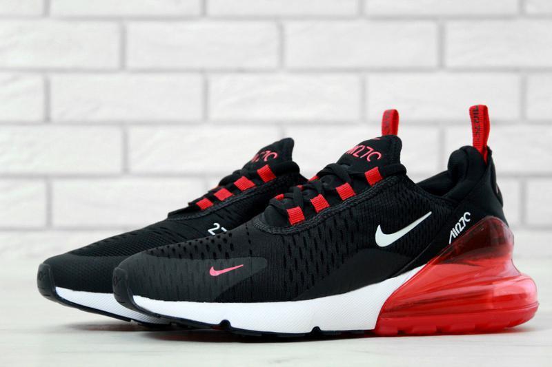 caeb6cea Черные мужские кроссовки с красной пяткой nike air max 270 41 42 43 44 45  рр1 ...