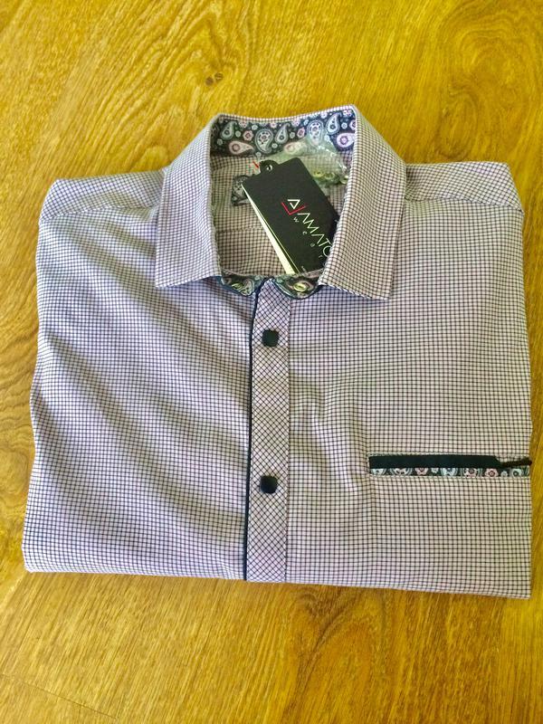 b1b14acec4742d8 Стильная приталенная мужская рубашка,сорочка amato, цена - 350 грн ...