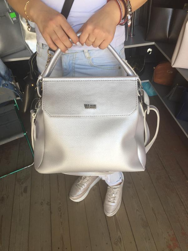d82500c680e8 Мягкая сумка украинского производителя velassie серебро, цена - 490 ...