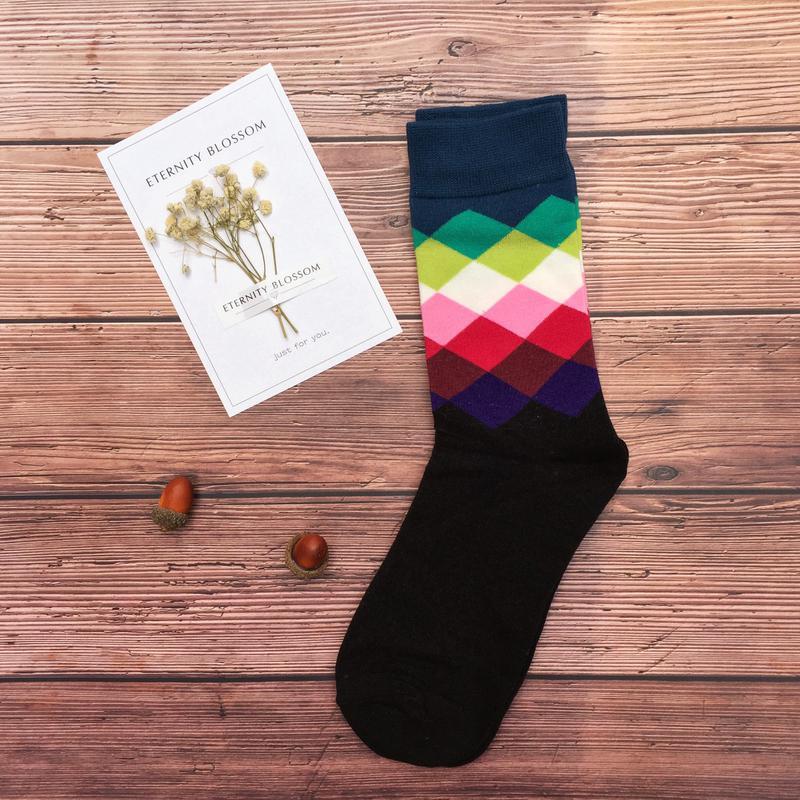 0ec67578b9d Мужские носки цветные ромбы1 фото. Мужские носки цветные ромбы