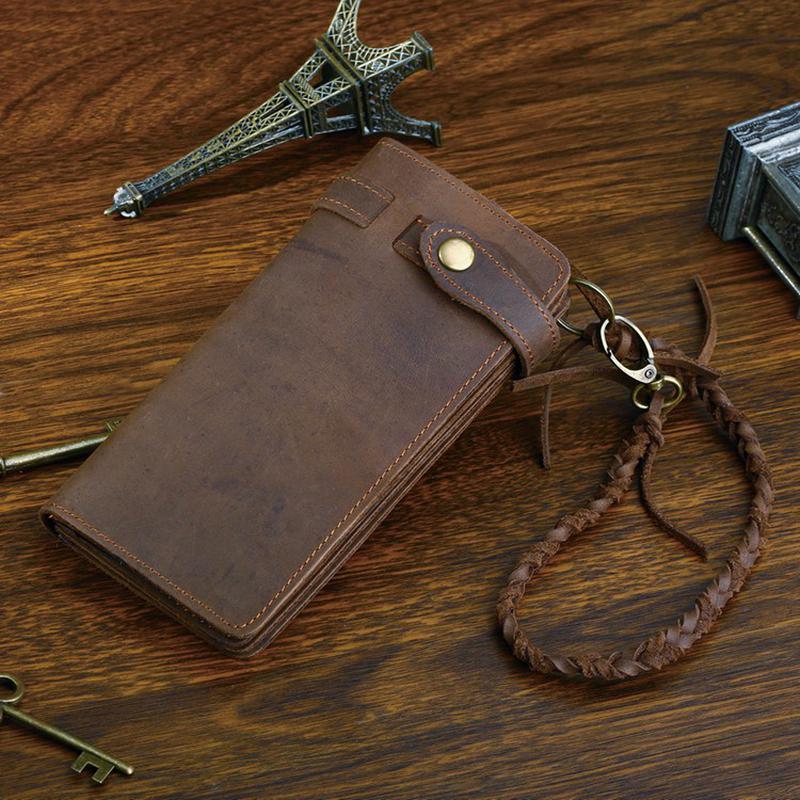 c01d547da248 Стильный винтажный кожаный мужской коричневый клатч портмоне ручная работа1  фото ...