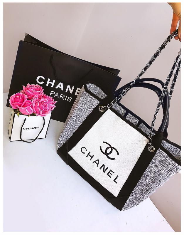 1c28724c30f9 Роскошная летняя пляжная сумка из льна в стиле chanel | лимитированная  круизная коллекция1 фото ...
