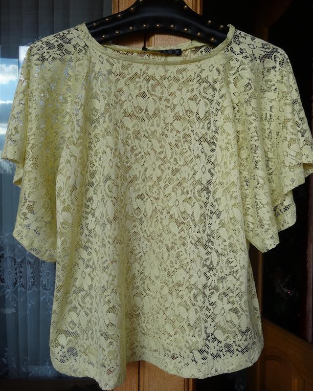 0929b3c500f Лимонная красивая гипюровая кофточка - блузка Atmosphere