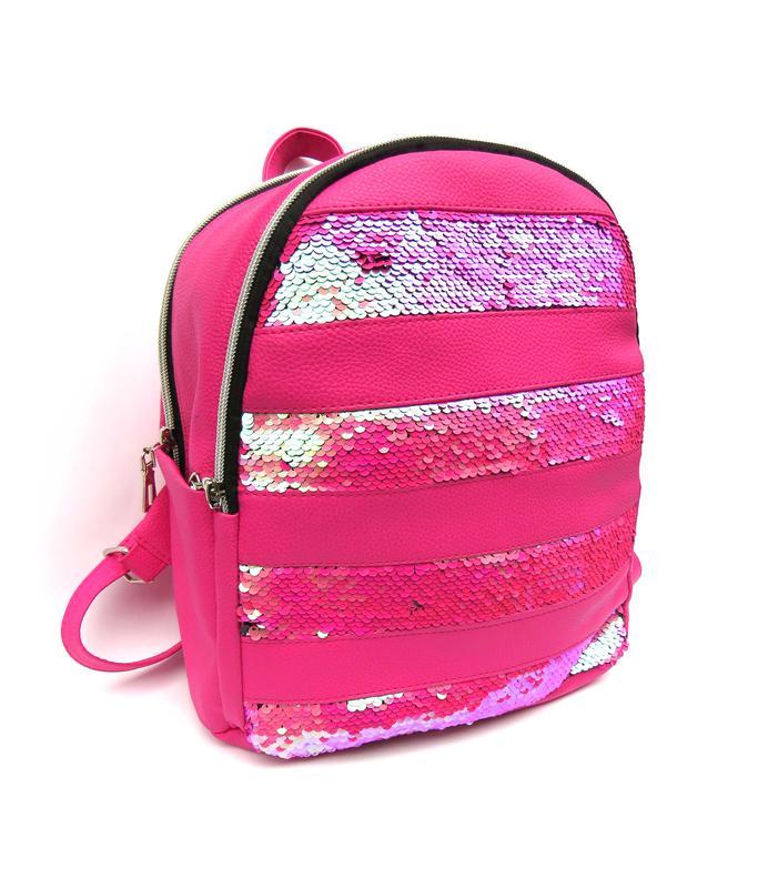 5f8a742d9fea Женский малиновый рюкзак с двухсторонними пайетками, цена - 300 грн ...