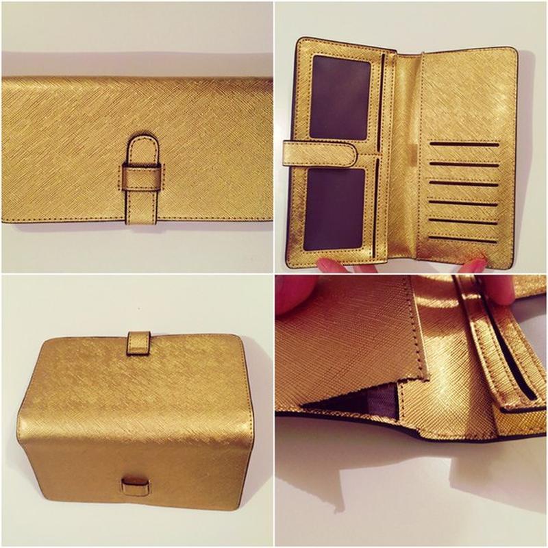 купить кожаный золотой кошелек