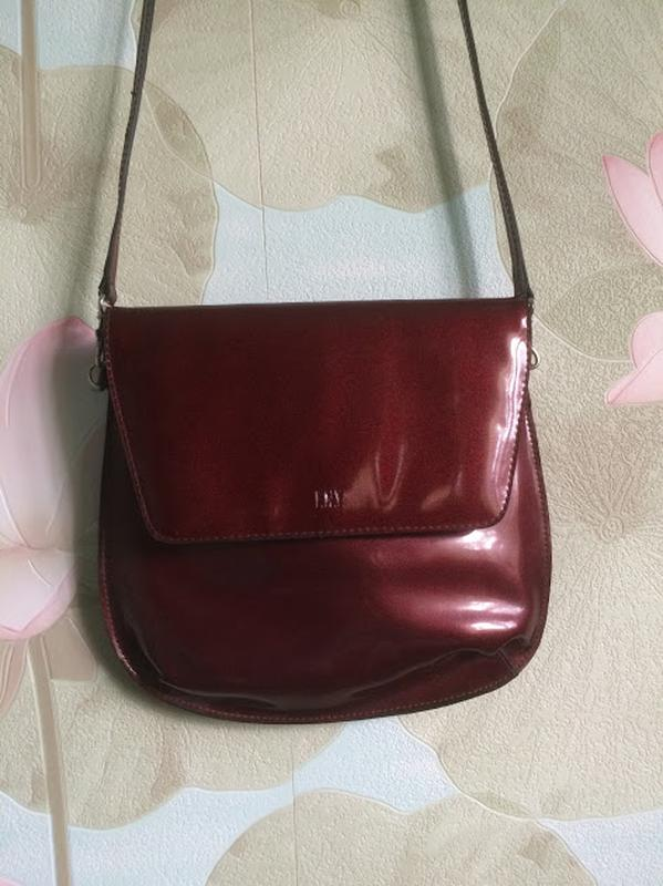 2d69c059d3aa Бордовая лаковая сумочка - кроссбоди, цена - 150 грн, #13252211 ...