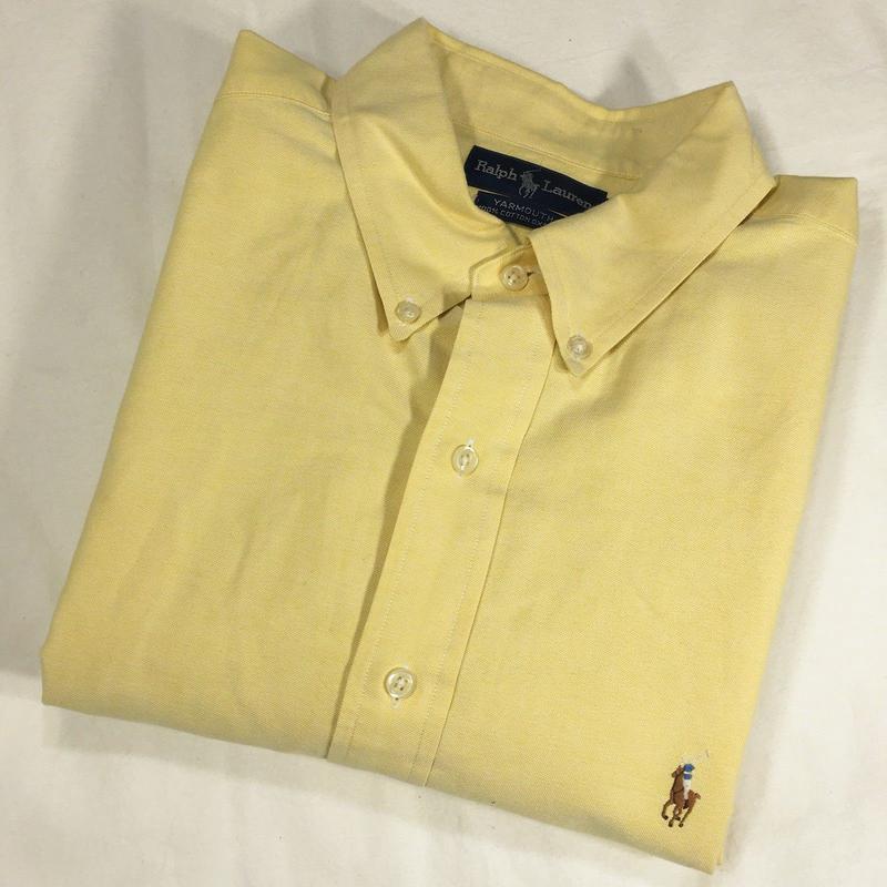 0b34273792d Рубашка плотная желтая  polo by ralph lauren  yarmouth 56-60р Ralph ...