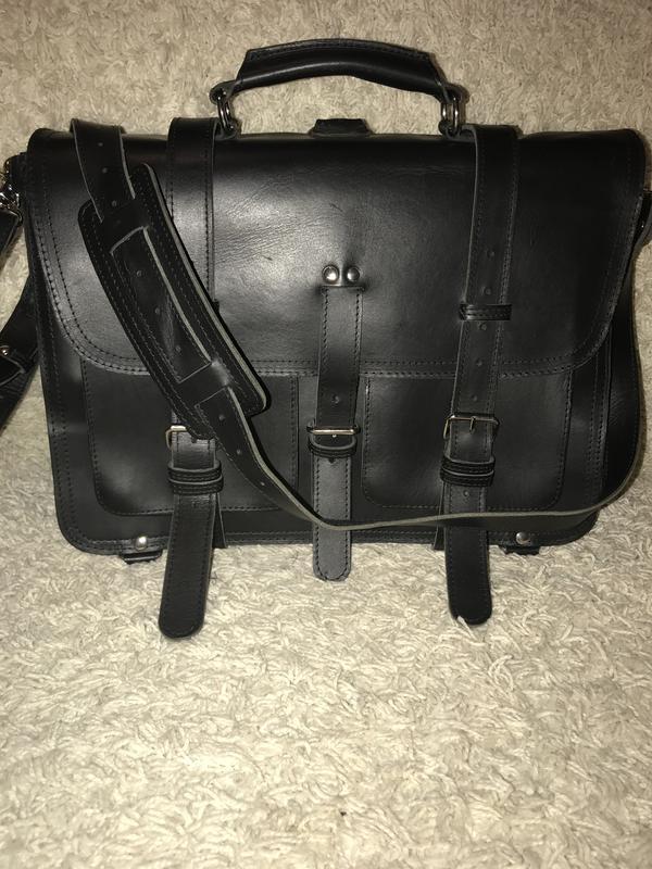 aa470878d696 Большая мужская кожаная сумка - портфель-рюкзак на/через плечо 3 в 1 ...