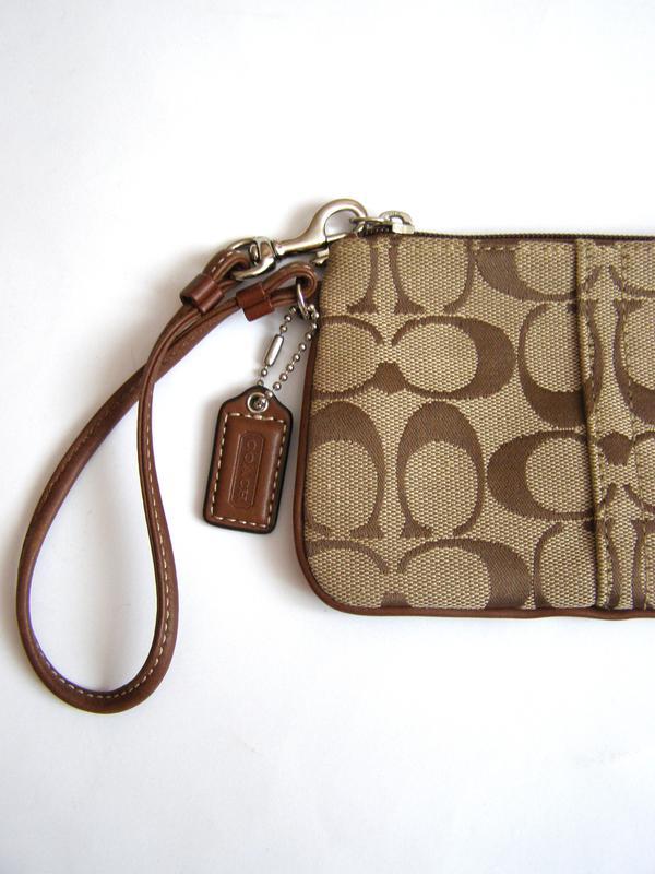 Vip! coach – стильная ключница (клатч) – текстиль + кожа – новая (1 ... 2e3eb890ca542