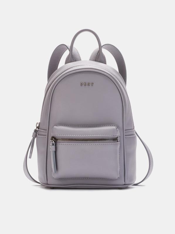 eb37acc7fb45 Рюкзак кожаный dkny в ьелом и сером цвете DKNY, цена - 3200 грн ...