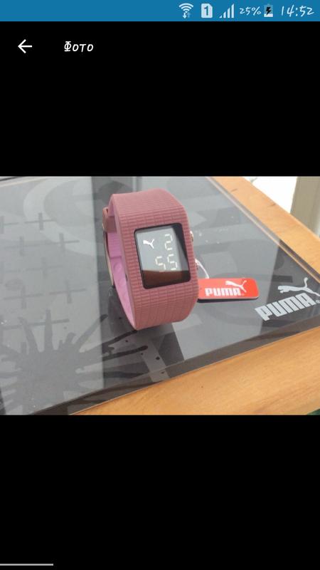 e859779e Часы puma розовые спортивные led watch каучук pu201pk оригинал электронные  пудра пудровые1 фото ...