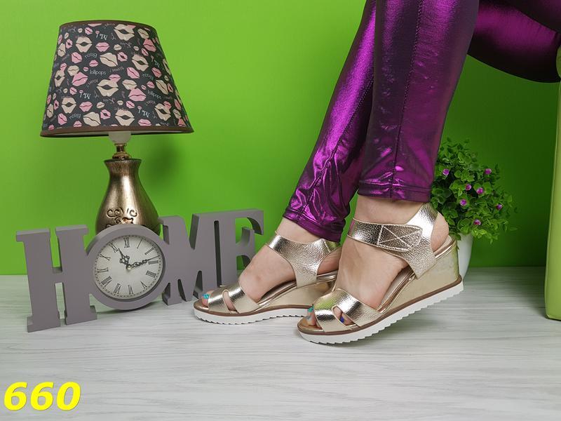 Распродажа босоножки на платформе с танкеткой для ежедневной носки золотые  37р1 ... 0c7297c8a237f