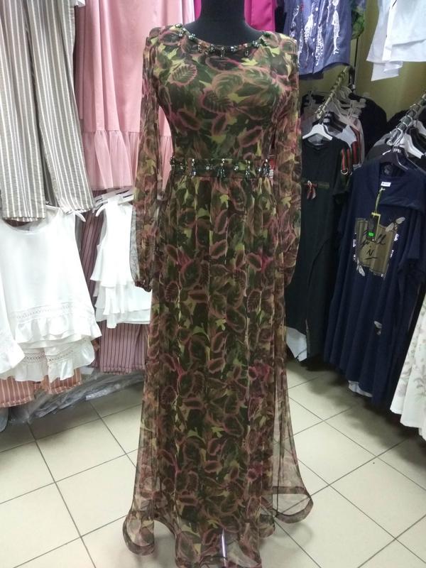 20316590822 Шикарное длинное нарядное платье в пол s