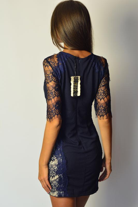 cc79e94157f ... рукавами1 фото · Шикарное платье футляр с вставками с кружева и  кружевными рукавами2 фото