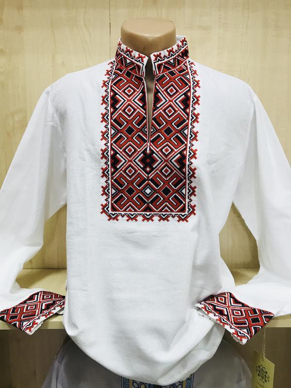 Мужская вышиванка рубашка с вышивкой лен чоловіча вишиванка льон1 ... ab78df2fcfa5a