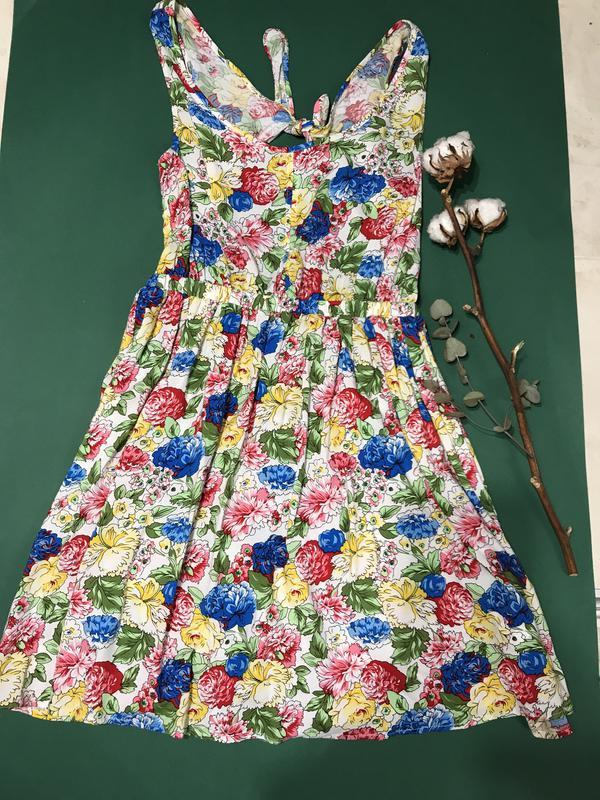 Літня сукня із еатуральної тканини з відкритою спиною1 ... a0345bbebf18e