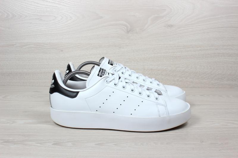 Белые кожаные кроссовки adidas stan smith оригинал 19029033f5229