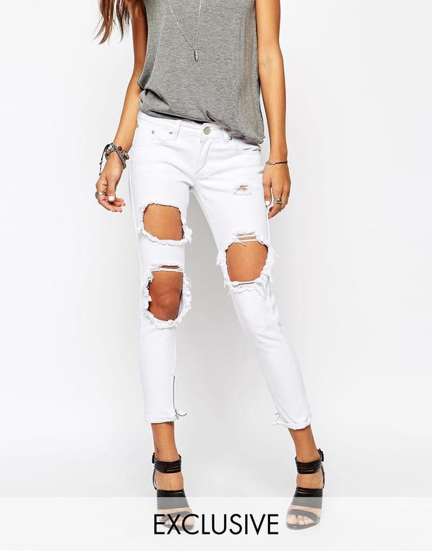 8b4c568022e Рваные белые джинсы новые1 фото ...
