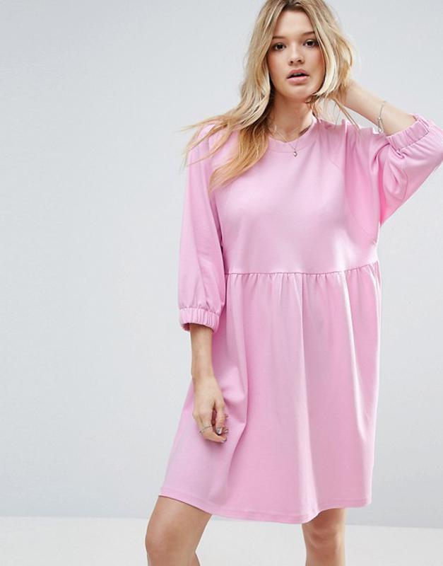 0fa7bce9ffb Трикотажное катоновое платье оверсайз asos
