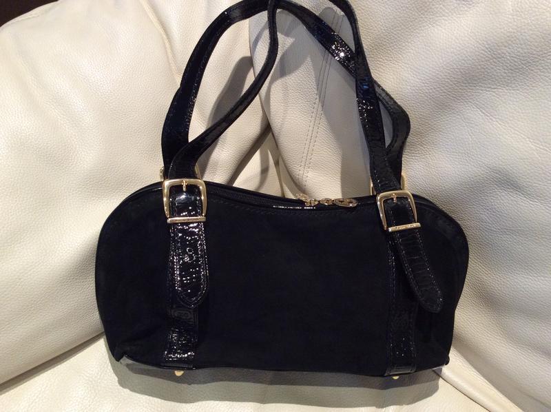 975063c49877 Женская замшевая черная итальянская сумка marino orlandi оригинал1 фото ...