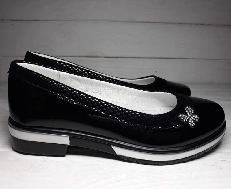 afdfec325 ... Красивые туфли балетки для девочки подростка підліткові туфлі внутри  кожа шкіра р.33-384 ...