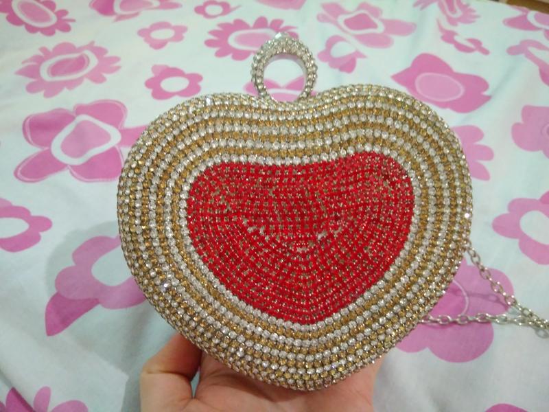 a38fcd6274d5 Клатч в стразах в форме сердца, цена - 320 грн, #13561455, купить по ...